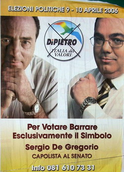 Antonio Di Pietro e Sergio De Gregorio