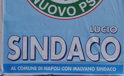 Manifesto elettorale: al comune vota Lucio Sindaco