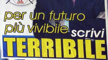 Manifesto elettorale: per un futuro più vivibile scrivi Terribile