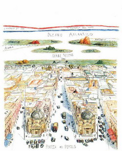 Disegno di Saul Steinberg
