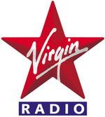 Logo Virgin Radio - Stella a cinque punte con scritta obliqua