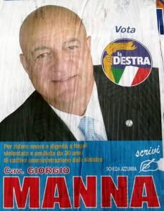 il candidato manna, pendente di una trentina di gradi verso sinistra